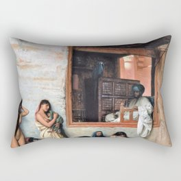 Jean-Leon Gerome - The Slave Market - Digital Remastered Edition Rectangular Pillow