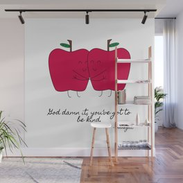 Kind Apples (or An Ode To My Imaginary Boyfriend) Wall Mural