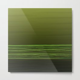 Horizon (olive green) Metal Print