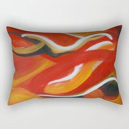 Autumn Wisps Abstract Acrylic Art Rectangular Pillow