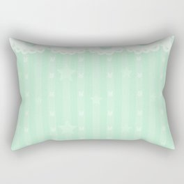 Kawaii Green Rectangular Pillow