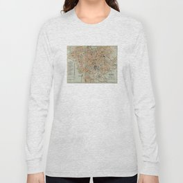 Vintage Map of Rome Italy (1911) Long Sleeve T-shirt