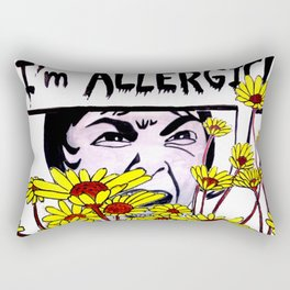 Allergic Janet Rectangular Pillow