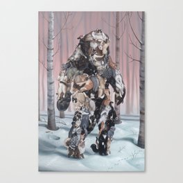 Catsquatch (super high res) Canvas Print