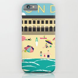 Bondi Beach Vintage Style Art Print iPhone Case