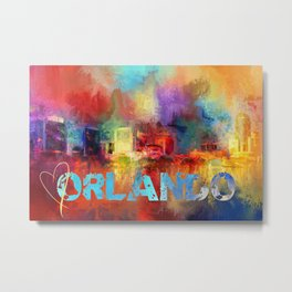 Sending Love To Orlando Metal Print