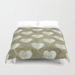 Hearts Motif Pattern Duvet Cover
