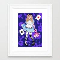 alice wonderland Framed Art Prints featuring wonderland by Majikal Whispers