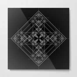 Black sacred geometry design with occult and wicca style Metal Print