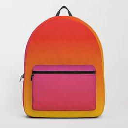 pink red orange yellow evening sky gradient Backpack