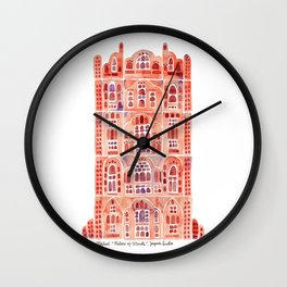 Hawa Mahal – Palace of the Winds in Jaipur, India Wall Clock