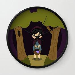 Little Aubergine Riding Hood Wall Clock