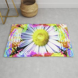 Pink And Yellow Delight Rug