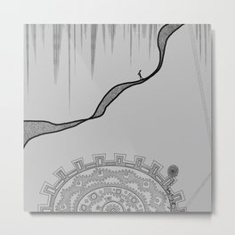 Wheel of Doubts Metal Print
