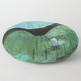 Sky Blue Sky Contemporary Abstract Landscape McNulty Floor Pillow
