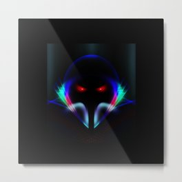 Abstract Cyber Knight Metal Print