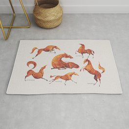 Horse poses Rug