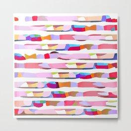 Waves of Noise ~ Pink Metal Print