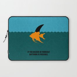 Lab No. 4 -If You Believe In Yourself Anything Is Possible Corporate Start-Up Quotes Poster Laptop Sleeve