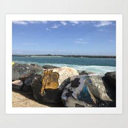 ocean calling me home Art Print
