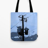 transformer Tote Bags featuring Transformer by AMarloweCanPrint
