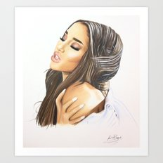 Ariana Into You Drawing Art Print