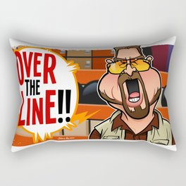 Over the Line Rectangular Pillow