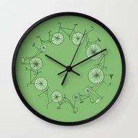 cycle Wall Clocks featuring Cycle by Anita Ivancenko