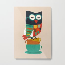 Morning Owl Metal Print