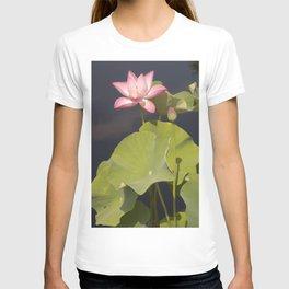 Pink Lotus by Teresa Thompson T-shirt