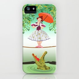 The Umbella girl With crocodile iPhone Case