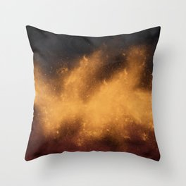 War Abstract Galaxy Nebula Space V12 Throw Pillow