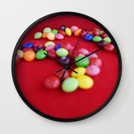 Skittles Swirls Wall Clock