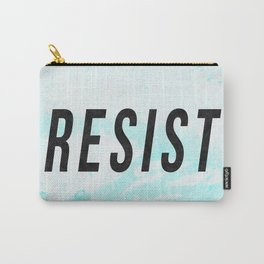 RESIST 1.0 - Black on Teal #resistance Carry-All Pouch