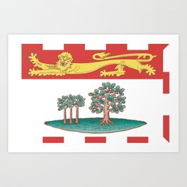 flag of prince edward island 2 -pei,islander,Charlottetown Art Print