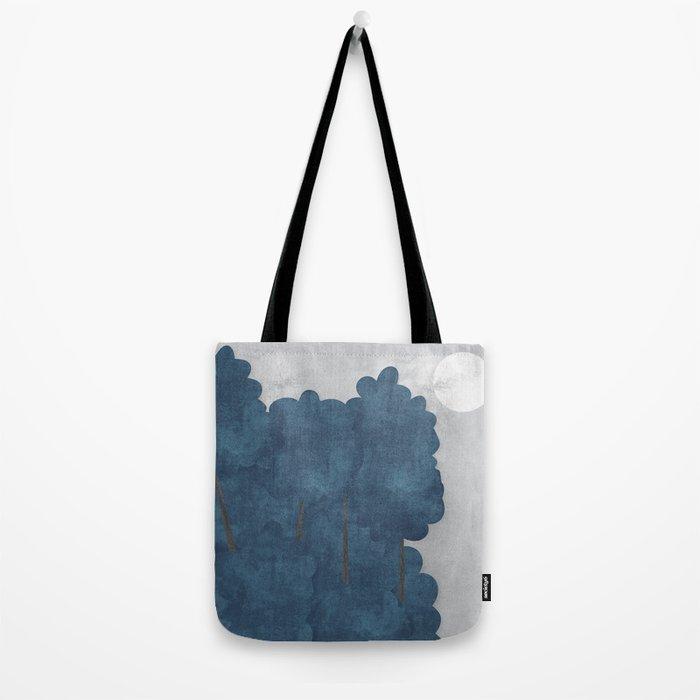 Blue trees Tote Bag