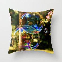 Bubbles   Bulles Throw Pillow