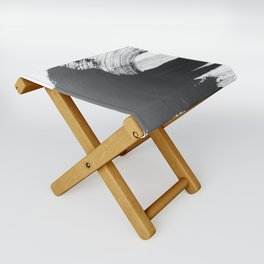 Black and White Gallery Wall Art Folding Stool