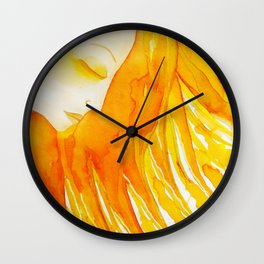 Bast The Sun Goddess Lioness of a Woman's Soul  by Jeanne Fry Wall Clock