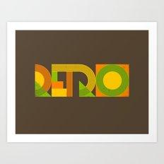 Retro Art Print