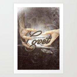 Commandment 10 - Thou Shalt Not Covet Art Print