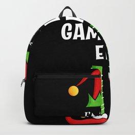 Gambling Elf Family matching Christmas Gift Backpack