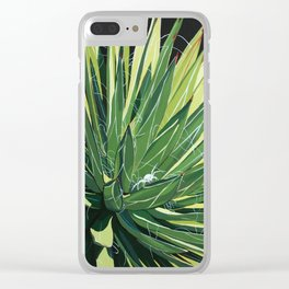 Yucca with spider Clear iPhone Case