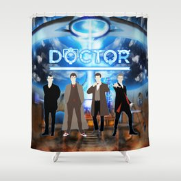 The Doctor Shine Shower Curtain