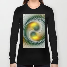 Like Yin and Yang, Abstract Fractal Art Long Sleeve T-shirt