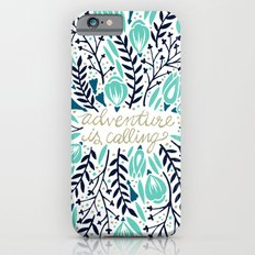 Adventure is Calling – Navy & Mint Palette Slim Case iPhone 6