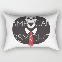 American Psycho-White Background Rectangular Pillow