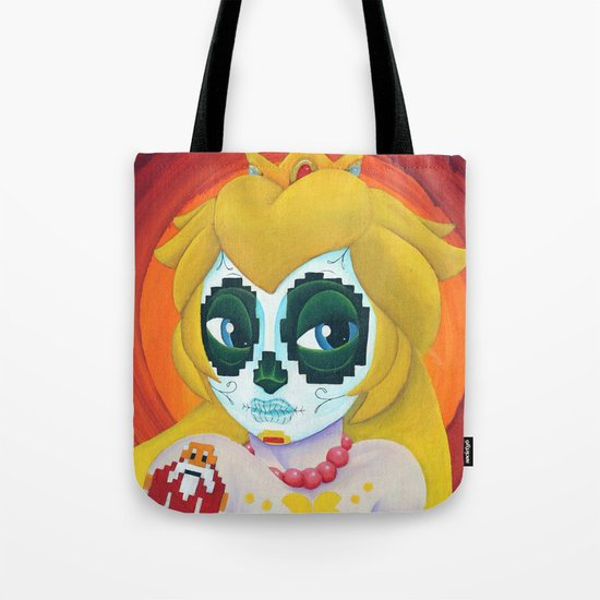 Day of the Digital Dead Princess Peach Tote Bag