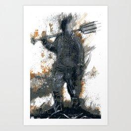 Permissive Burn Days Art Print