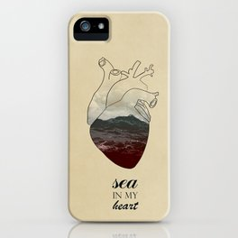 SEA IN MY HEART iPhone Case